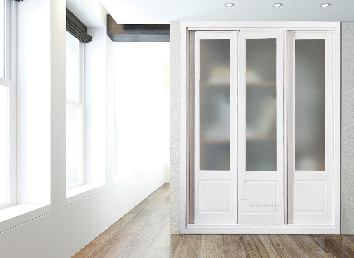 Armarios empotrados blancos cool interior armario - Ideas de armarios empotrados ...